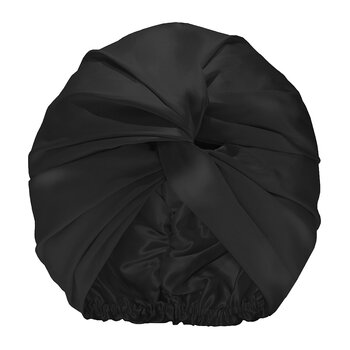 Pure Silk Turban - Black