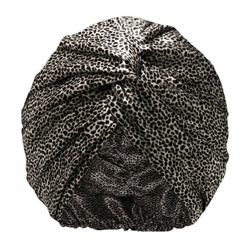Pure Silk Turban - Leopard