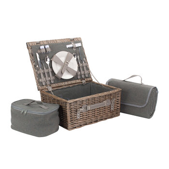 Gray Tweed Hamper