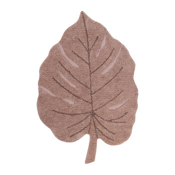 Monstera Washable Rug - Vintage Nude