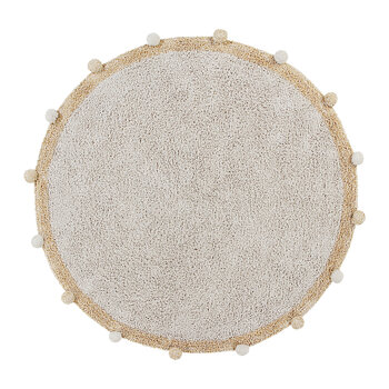 Bubbly Round Washable Rug - 120cm - Honey