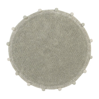 Bubbly Round Washable Rug - 120cm - Natural