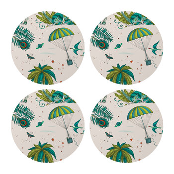 Lost World Coasters - Set of 4 - Lime