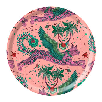 Lynx Round Tray - Pink