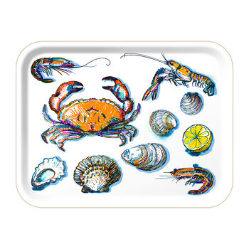 Seafood Rectangular Tray - White