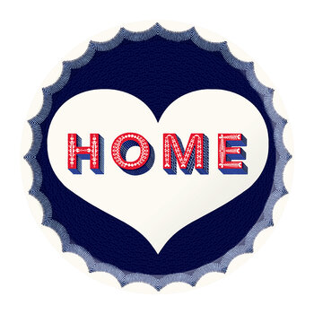 Home Round Tray - Navy