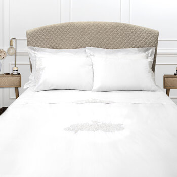 Wallis Bed Set - White/Silver