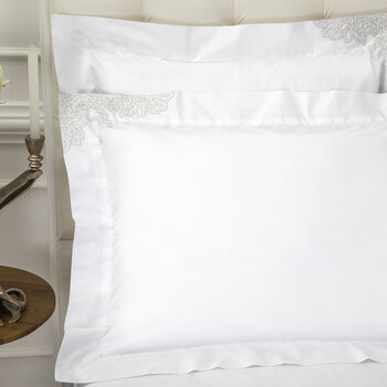 Wallis Oxford Pair Of Pillowcase - White/Silver