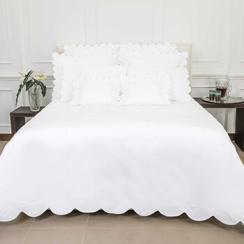 Scallop Bed Set - White