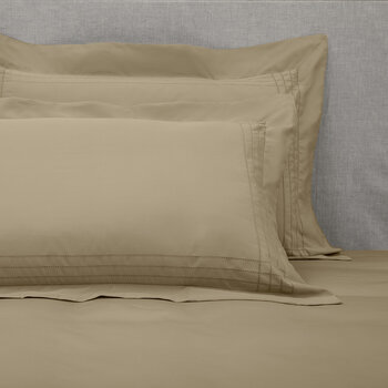 Grafton Oxford Pair Of Pillowcases - Taupe