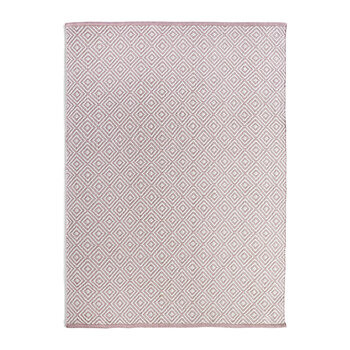 Diamond 100% Recycled Rug - Coral Pink