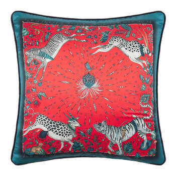 Protea Pillow - 45x45cm - Red