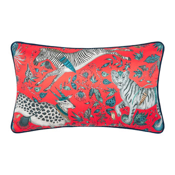 Protea Pillow - 45x28cm - Red
