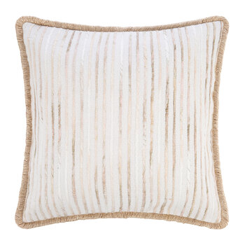 Texture Stripe Cushion - Natural - 45x45cm