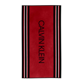 Border Stretch Beach Towel - Red