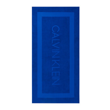 Terry Sculpted Beach Towel - Royal Blue