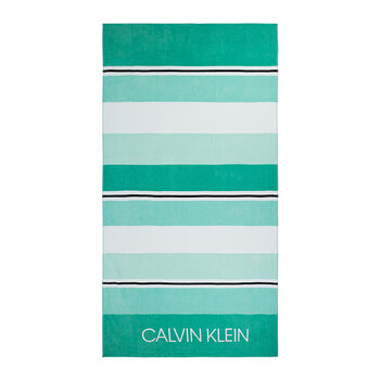 Tonal Stripe Beach Towel - Spearmint