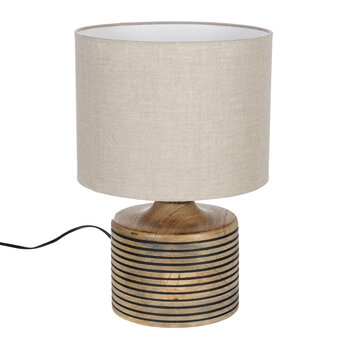 Wooden Stripe Table Lamp