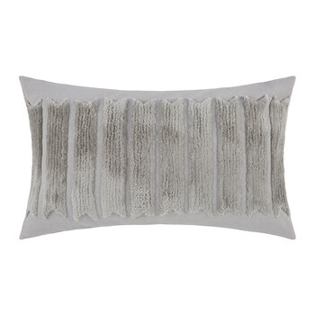 Gray Textured Stripe Pillow - 30x50cm