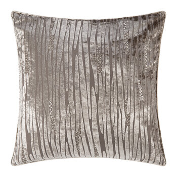 Gray Zebra Velvet Pillow - 45x45cm
