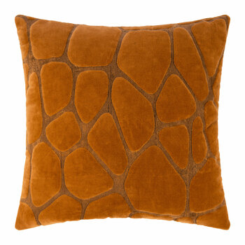 Giraffe Texture Cushion - 50x50cm - Burnt Orange