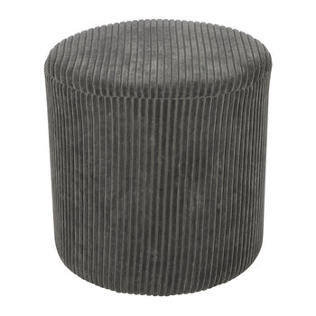 Courduroy Pouf - Grey