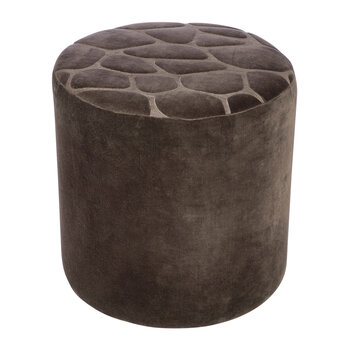 Velvet Giraffe Pouf - Brown