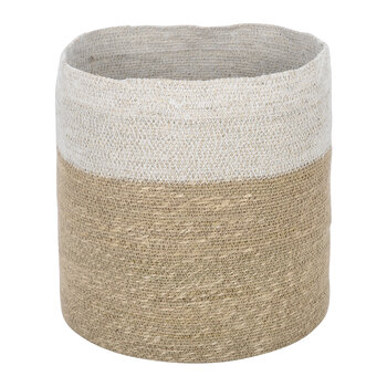 Seagrass Storage Basket - Natural/White