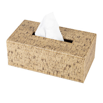 Faux Leather Tissue Box - Cork Effect