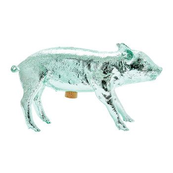 Reality Collection Bank in the Form of a Pig Money Bank - Mint Chrome