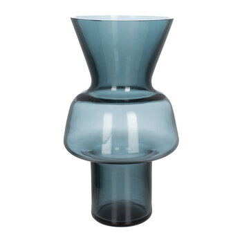 Smoke Wide Glass Vase