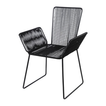 Wrapped Wing Armchair - Black