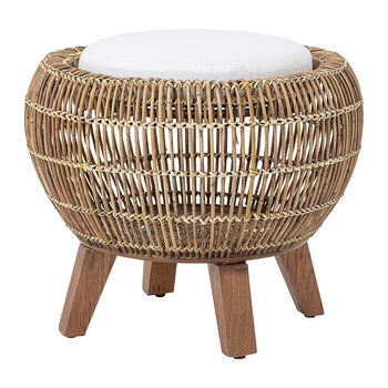 Tabouret Sue en Rotin - Naturel