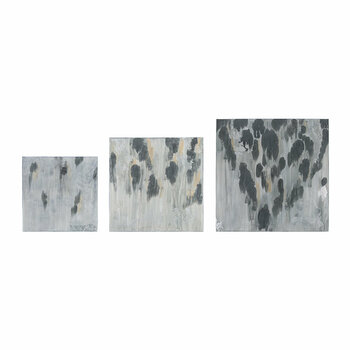 Grey Smudge Wall Art - Set of 3