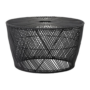 Ditte Rattan Coffee Table - Black