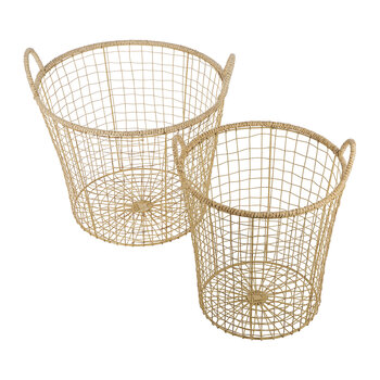 Jute Storage Basket - Set of 2