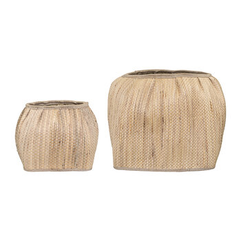 Hyacinth Basket - Set of 2 - Natural