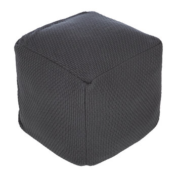 Textured Knit Pouf