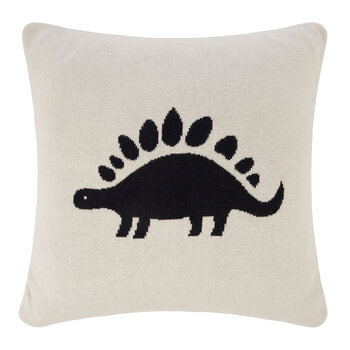 Kids Knitted Pillow - 40x40cm - Dinosaur