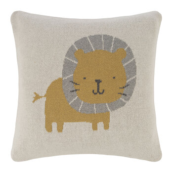 Kids Knitted Cushion - 40x40cm - Lion