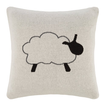 Kids Knitted Pillow - 40x40cm - Sheep