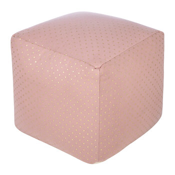 Kids Pouf - Pink Dot