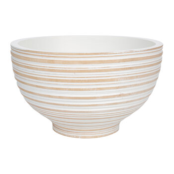 Striped Wooden Bowl