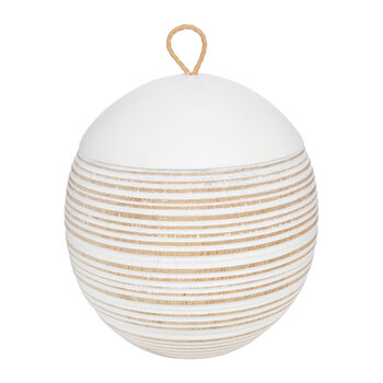 Striped Ball Pot With Lid