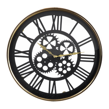 Open Metal Wall Clock