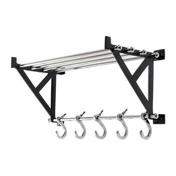 Towel Rail With Hooks - Nickel
