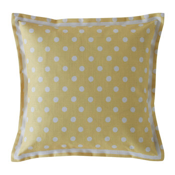 Button Spot Cushion - 40x40 - Yellow
