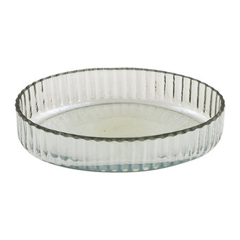 Ridged Glass Soap Dish
