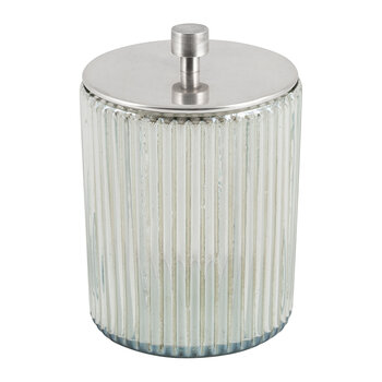 Ridged Glass Storage Pot