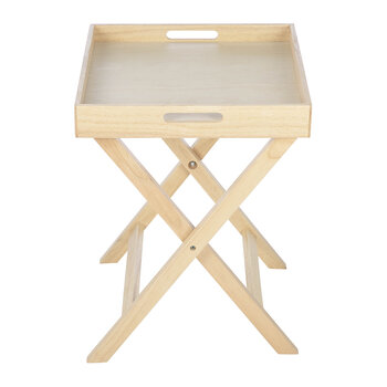 Folding Tray Side Table - Natural